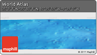 """Shaded Relief Panoramic Map of the Area around 35°24'37""""N,10°7'30""""W"""