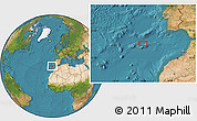 """Satellite Location Map of the area around 35°24'37""""N,11°49'29""""W"""