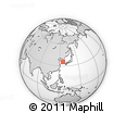 """Outline Map of the Area around 35° 24' 37"""" N, 125° 52' 30"""" E, rectangular outline"""