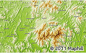 """Physical Map of the area around 35°24'37""""N,127°34'30""""E"""