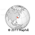 """Outline Map of the Area around 35° 24' 37"""" N, 127° 34' 30"""" E, rectangular outline"""