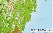 Physical Map of Kimhae