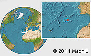 """Satellite Location Map of the area around 35°24'37""""N,12°40'30""""W"""