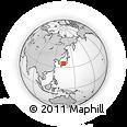 Outline Map of Misasa, rectangular outline