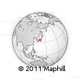 """Outline Map of the Area around 35° 24' 37"""" N, 136° 4' 29"""" E, rectangular outline"""