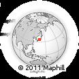 Outline Map of Higashi-yokoyama, rectangular outline