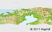 """Physical Panoramic Map of the area around 35°24'37""""N,136°4'29""""E"""