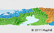"""Political Panoramic Map of the area around 35°24'37""""N,136°4'29""""E"""