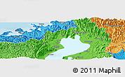 Political Panoramic Map of Higashi-yokoyama