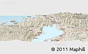 Shaded Relief Panoramic Map of Higashi-yokoyama