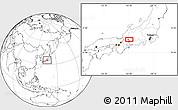 Blank Location Map of Gifu