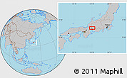 Gray Location Map of Gifu