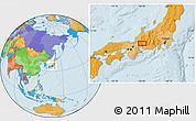 Political Location Map of Gifu