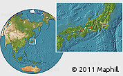 Satellite Location Map of Gifu
