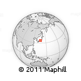 Outline Map of Mieji, rectangular outline