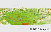 Physical Panoramic Map of Iwakura