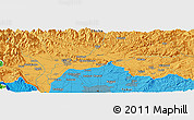 Political Panoramic Map of Iwakura