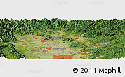 Satellite Panoramic Map of Mieji