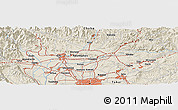Shaded Relief Panoramic Map of Iwakura
