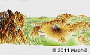 "Physical Panoramic Map of the area around 35° 24' 37"" N, 138° 37' 30"" E"