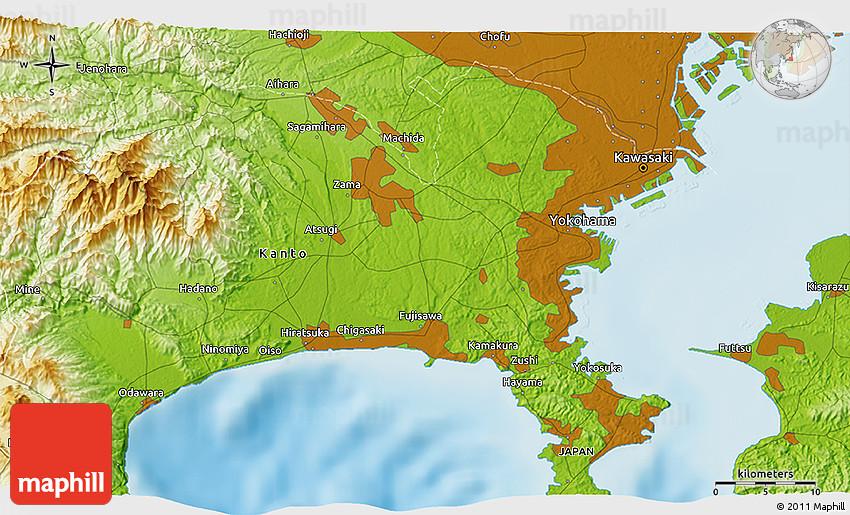 Physical D Map Of Ueki - Japan map ueki