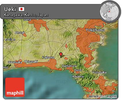 Free Satellite D Map Of Ueki - Japan map ueki