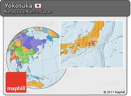 Free Political Location Map Of Yokosuka
