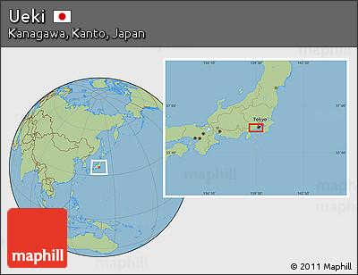 Free Savanna Style Location Map Of Ueki - Japan map ueki