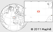 """Blank Location Map of the area around 35°24'37""""N,13°31'30""""W"""