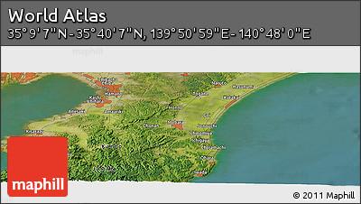 "Satellite Panoramic Map of the Area around 35°24'37""N,140°19'29""E"