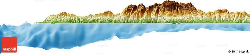 Physical Horizon Map of Sfakia