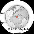 Outline Map of Sfakia, rectangular outline