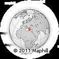 Outline Map of Heraklion, rectangular outline