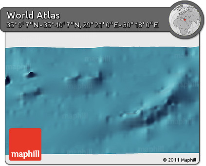 """Satellite 3D Map of the Area around 35°24'37""""N,29°49'30""""E"""