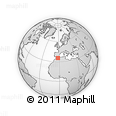 Outline Map of Nador, rectangular outline