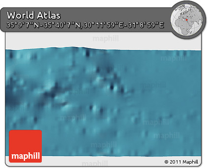 """Satellite 3D Map of the Area around 35°24'37""""N,30°40'29""""E"""