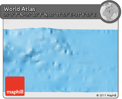 """Shaded Relief 3D Map of the Area around 35°24'37""""N,30°40'29""""E"""