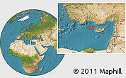 """Satellite Location Map of the area around 35°24'37""""N,31°31'29""""E"""