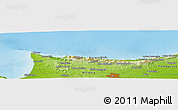 """Physical Panoramic Map of the area around 35°24'37""""N,33°13'30""""E"""