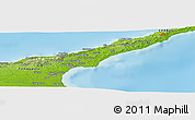 """Physical Panoramic Map of the area around 35°24'37""""N,34°4'30""""E"""
