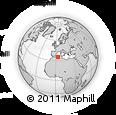 Outline Map of Bouira El Adebad, rectangular outline