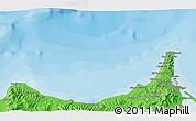 Political 3D Map of Melilla