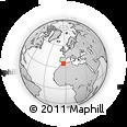 Outline Map of Melilla, rectangular outline