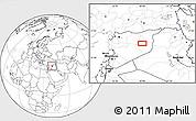 Blank Location Map of Dayr az Zawr