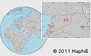 Gray Location Map of Dayr az Zawr