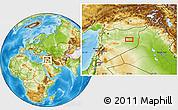 Physical Location Map of Dayr az Zawr