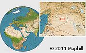 Satellite Location Map of Dayr az Zawr