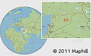 Savanna Style Location Map of Dayr az Zawr