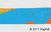 Political Panoramic Map of Kirkuk
