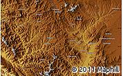 Physical Map of Bāghcheh-ye Maryam